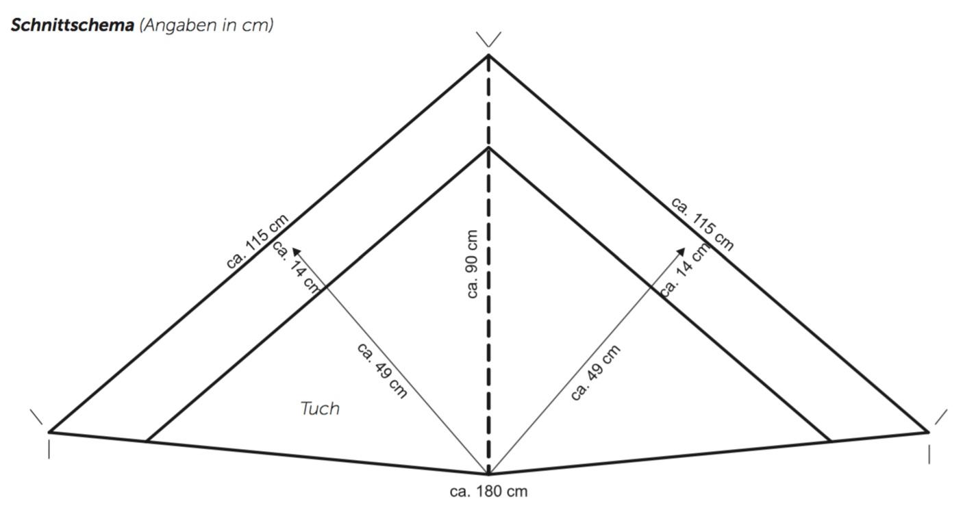 Dreieckstuch im Ajourmuster mit Knötchenrandmaschen