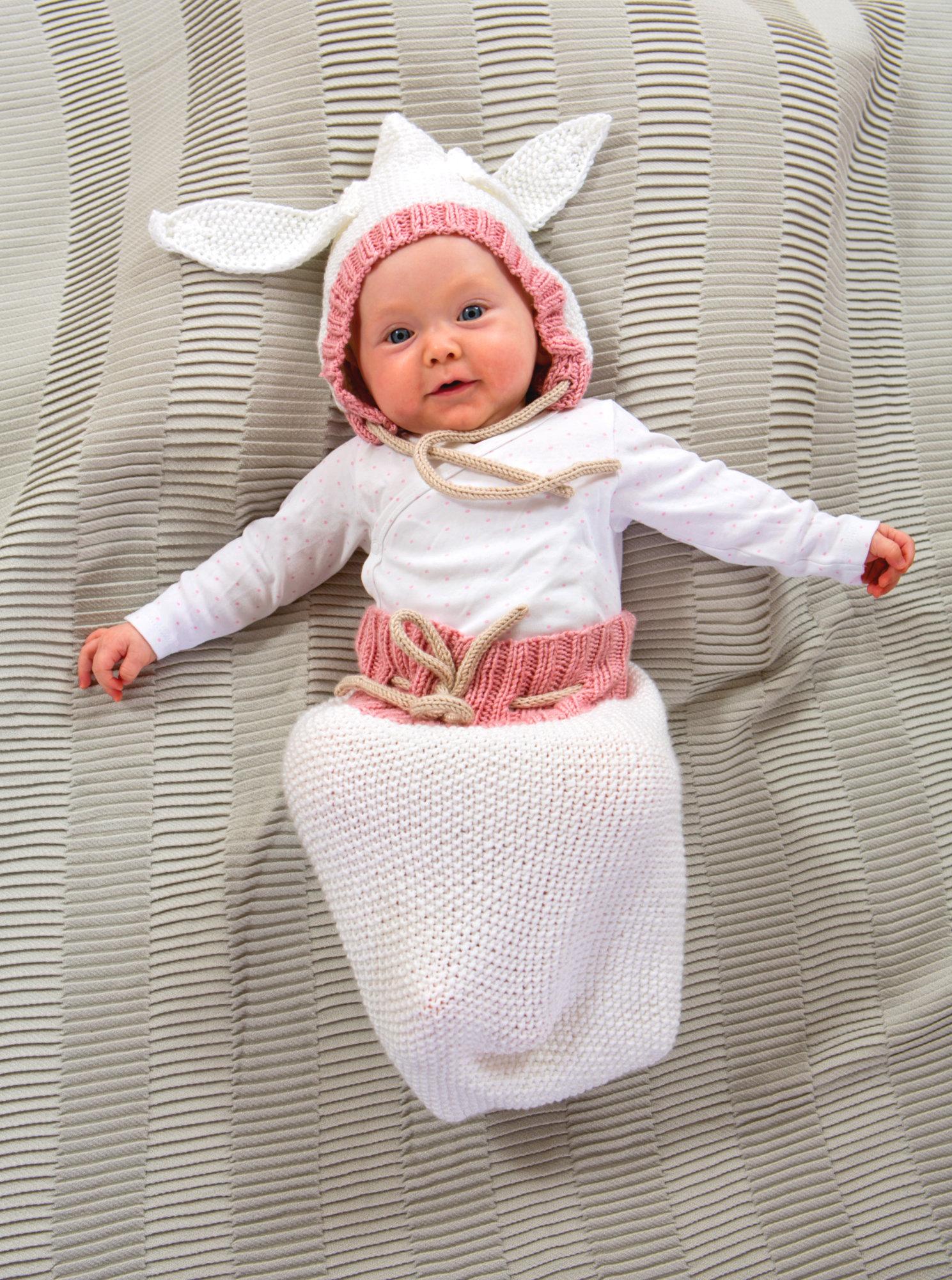 Pucksack mit Hasen-Mütze