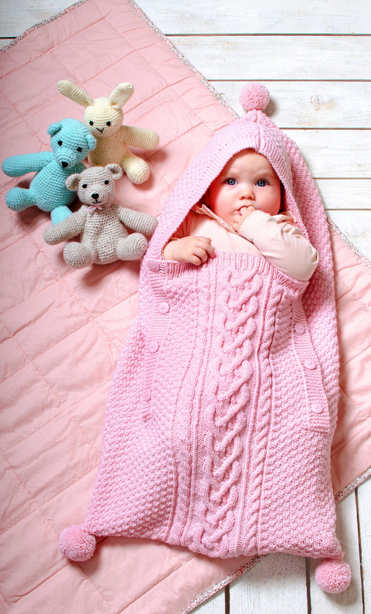 Baby-Schlafsack im Mustermix
