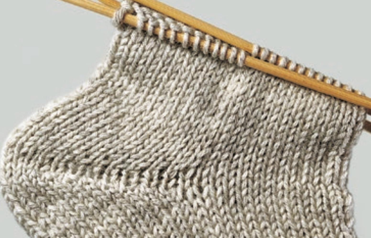 Hygge-Socken mit Aranmuster