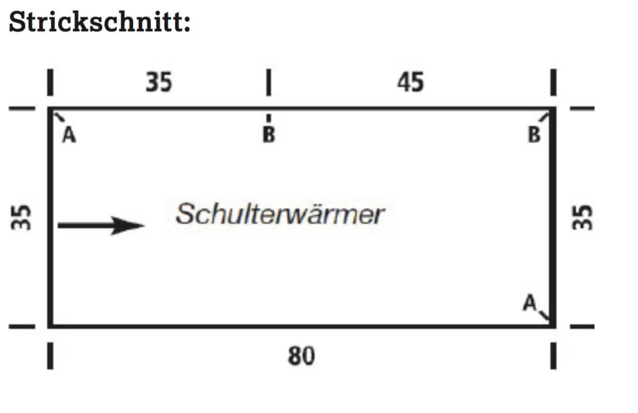 Gestrickter Schulterwärmer mit Kragen im Perlmuster