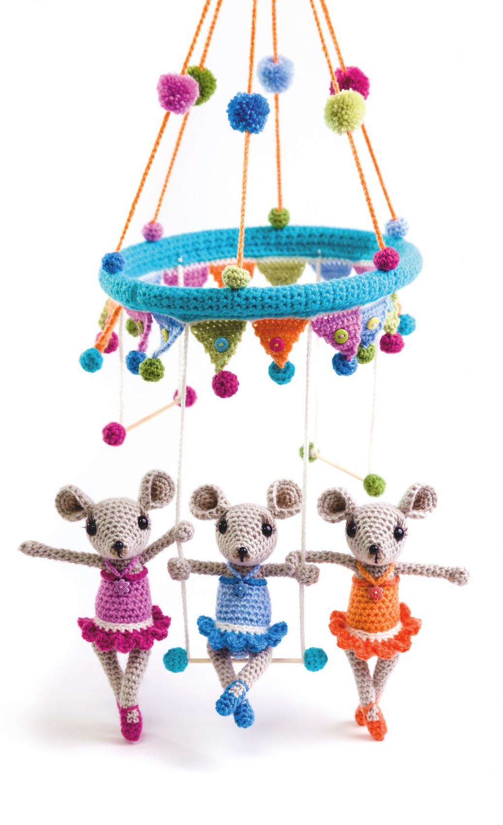 Das Trapez-Trio als Kinder-Mobile