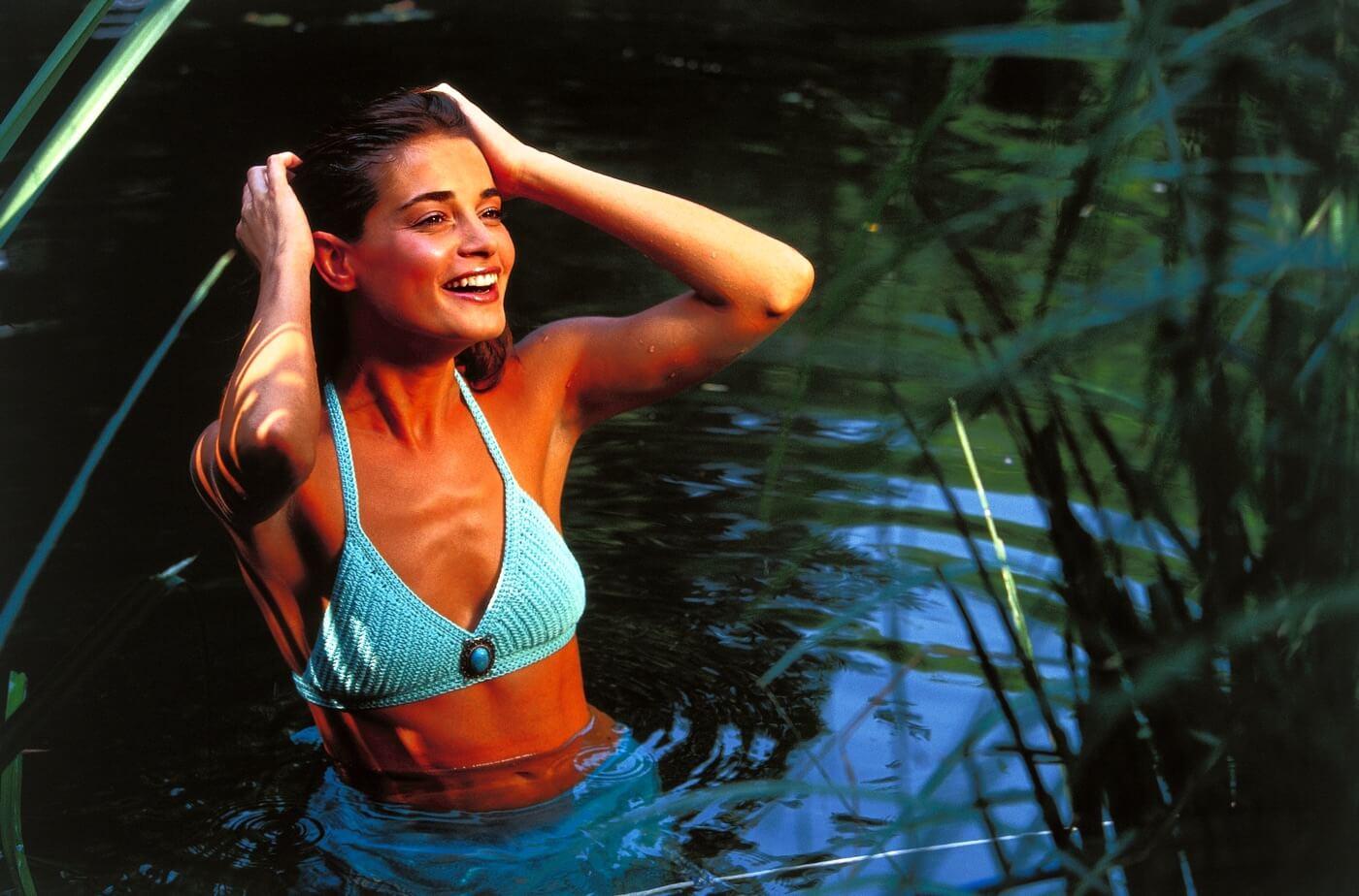 Klassisches Häkel-Bikini Top