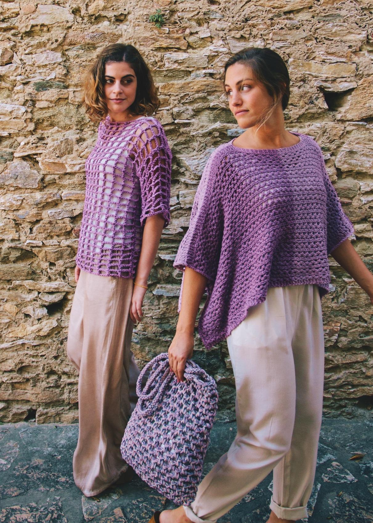 Leichter Pullover im Lochmuster