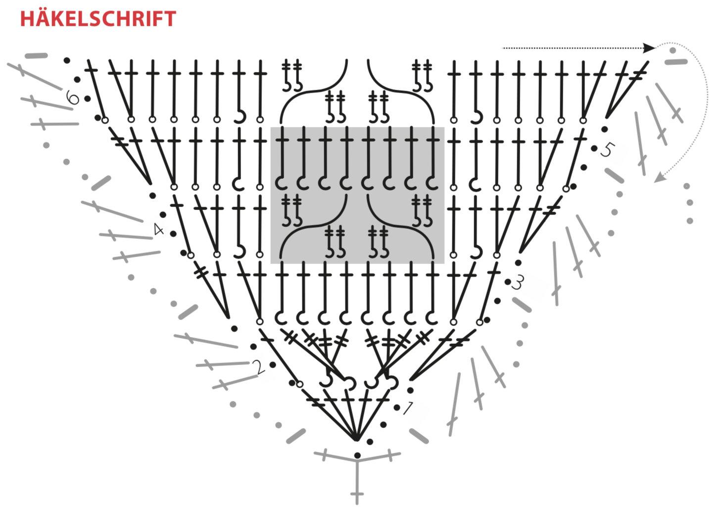 Dreieckstuch mit Zopfmuster
