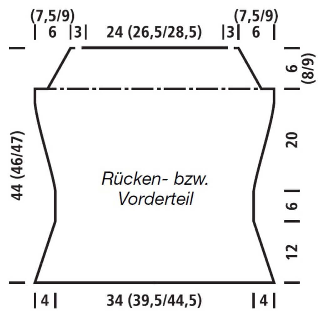 Strick-Top im Zick-Zack-Muster