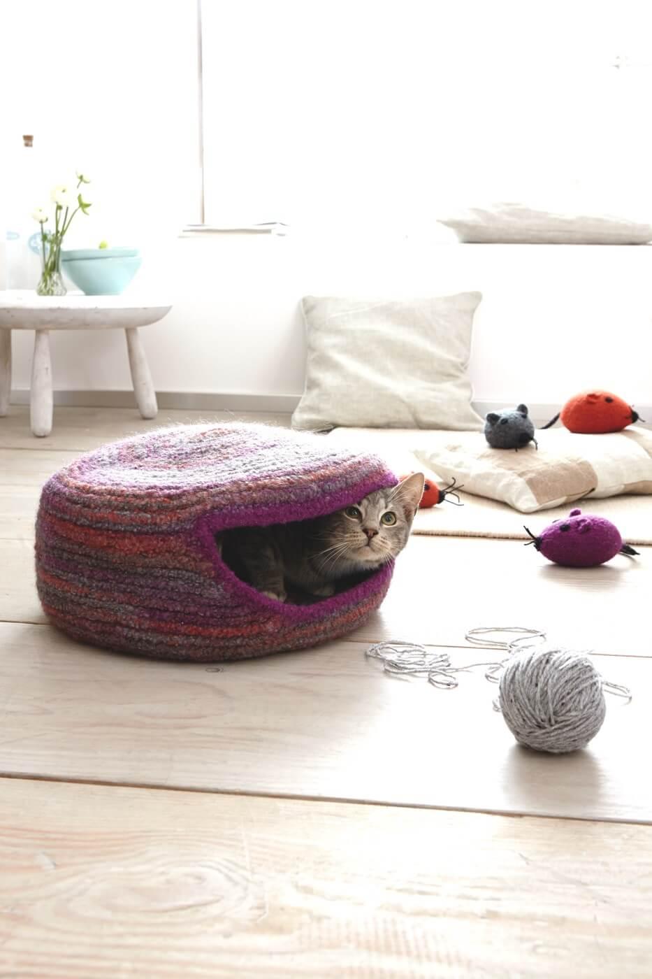 Gefilzte Katzenhöhle