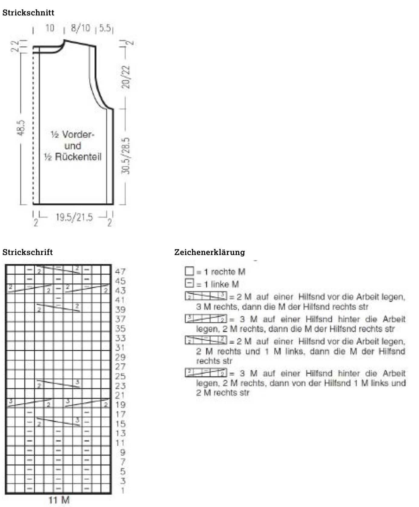 Damentop in einem Zopfstreifen-Muster