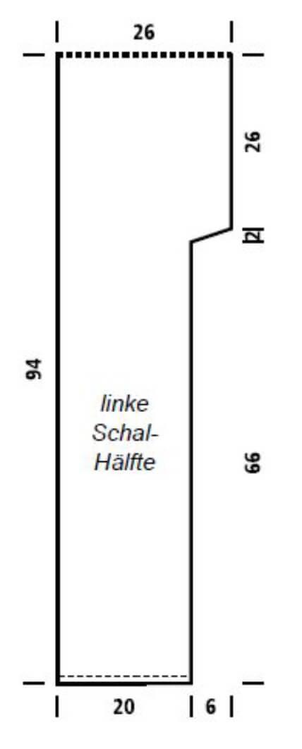 Farbenfroher Kapuzenschal / Scoodie