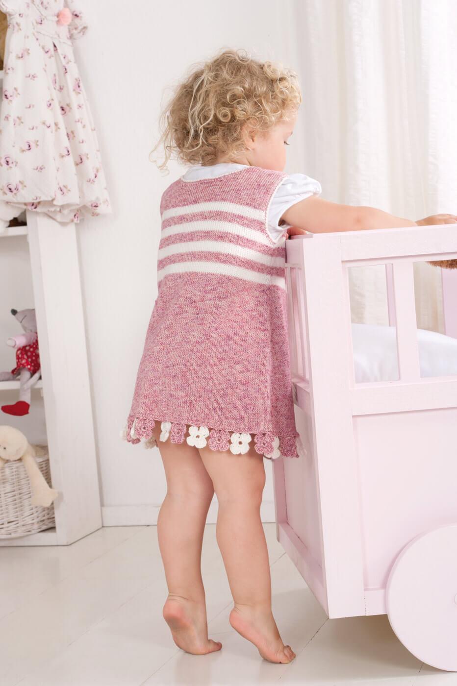 Mädchen-Kleid mit Blümchen-Bund