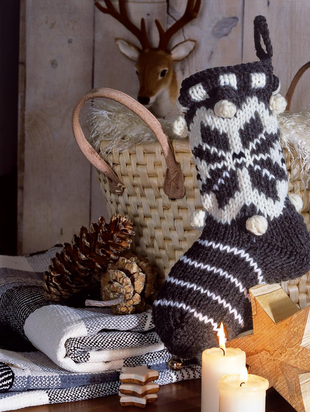 Weihnachts-Socken zur Dekoration