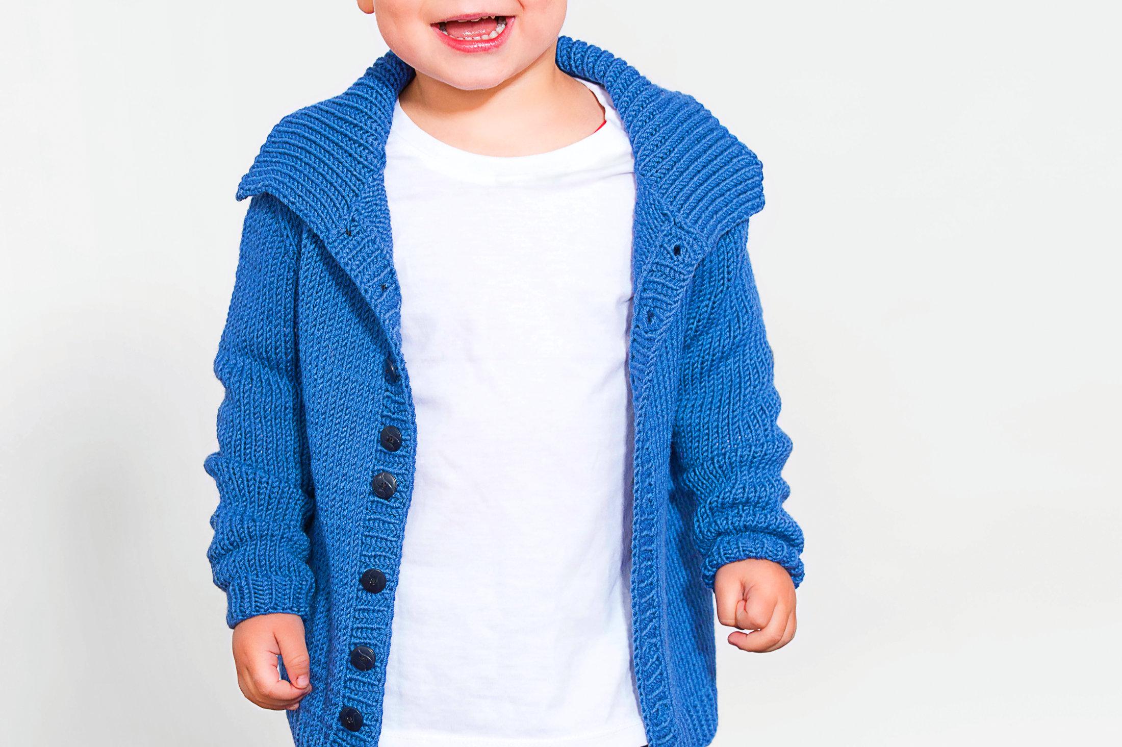 Basic Kinder Jacke Aurus   stricken und häkeln