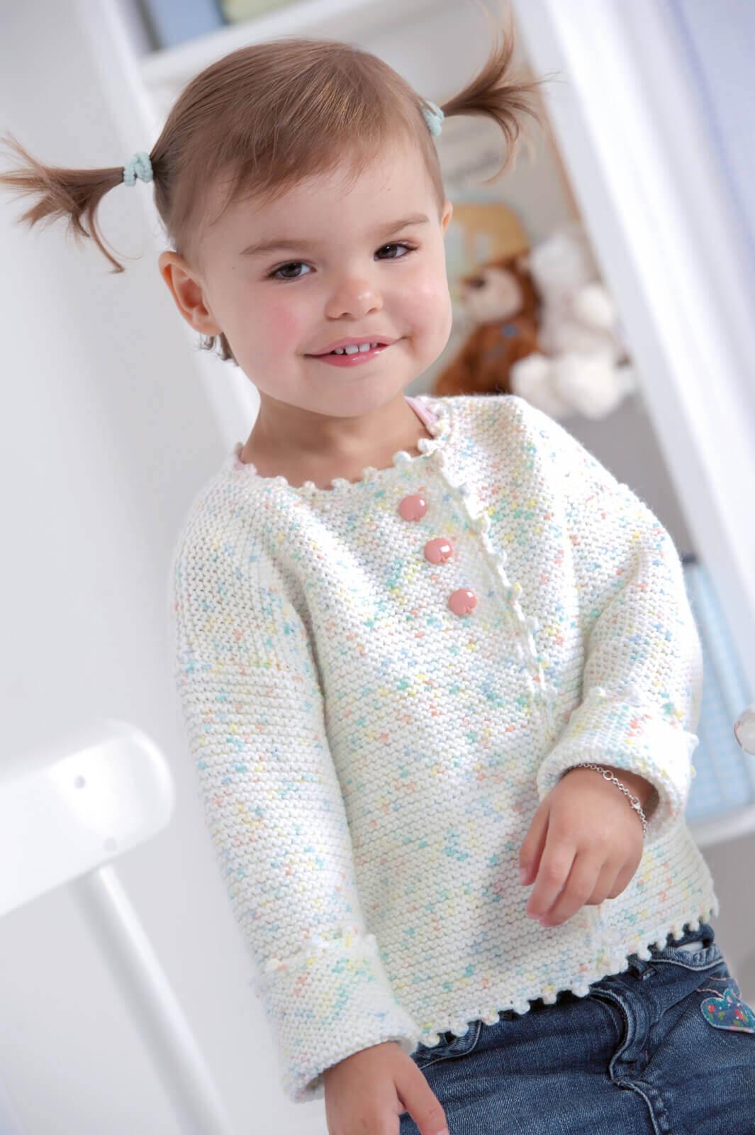 Baby-Jacke in zarten Bonbon-Farben