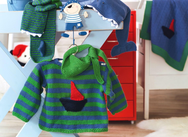Kinder-Pullover mit Halstuch